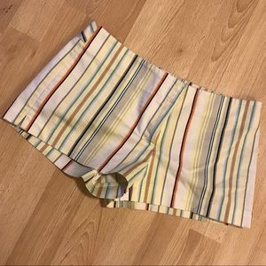 Express Stretch Striped Short Shorts Strip…